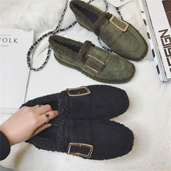 Hipsole - Faux-Suede Fleece-Lined Loafers