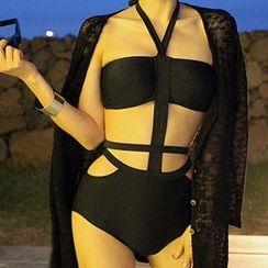 Roseate - Cutout Halter Swimsuit