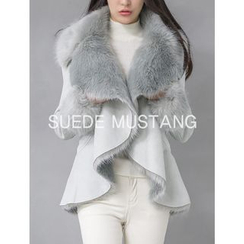 GUMZZI - Faux-Fur Faux-Suede Jacket