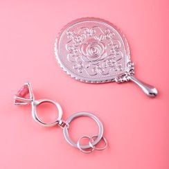 MILESI - 戒指钥匙扣 + 手柄化妆镜