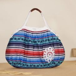SUPER LOVER - Applique Patterned Shoulder Bag
