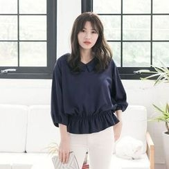 Tokyo Fashion - 3/4-Sleeve V-Neck Blouse