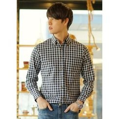 JOGUNSHOP - Plain Checked Shirt