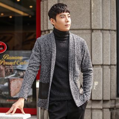 DANGOON - Shawl-Collar Open-Front Mélange Cardigan