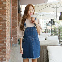 Envy Look - Denim Cotton Jumper Skirt