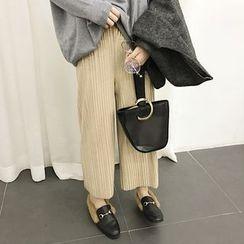 EKOOL - 寬腿打褶襉褲