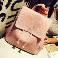 Fashion Street - Plain Drawstring Backpack