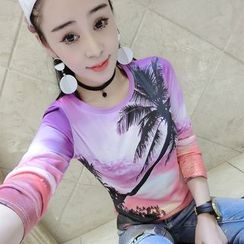 Fancy Show - Long-Sleeve Printed T-Shirt