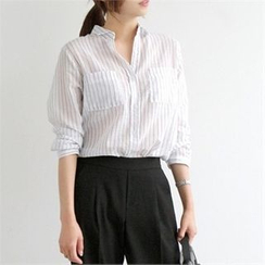 YOOM - Stripe Sheer Shirt