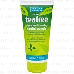 Beauty Formulas - 茶树深层去黑头磨砂洁面膏