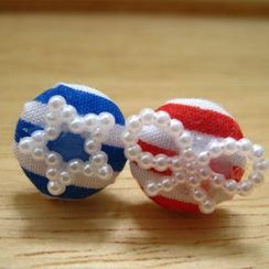 Fit-to-Kill - Lovely sailing Button Earrings