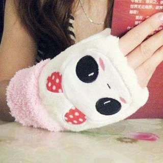 Cuteberry - Fleece Animal Fingerless Mittens