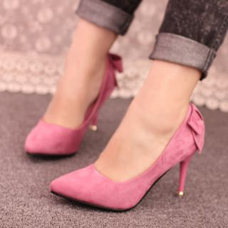 IYATO - Bow Accent Pointy Pumps