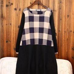 tete - Plaid A-Line Dress