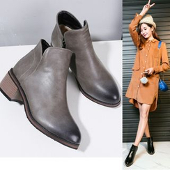 Shoes Galore - Block Heel Ankle Boots