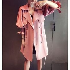 Mariposa - Double Breasted 3/4 Sleeve Trench Coat