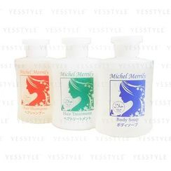 Sakura Kokoro - Michel Merrily Travel Set: Shampoo 30ml + Treatment 30ml + Soap 30ml