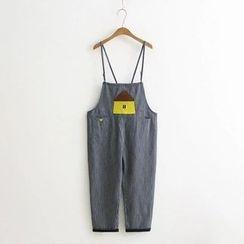 Nycto - 刺绣幼肩带牛仔裤
