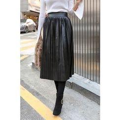 PPGIRL - Pleated Midi Skirt