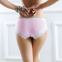 Charming Lover - Lace-Panel Panties