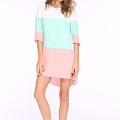 Flobo - Color-Block Shift Dress