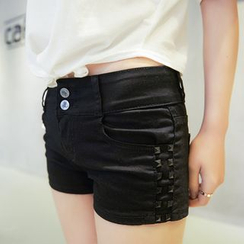 Nassyi - Studded Denim Shorts