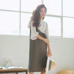 MISS YOYO - Striped Jumper Dress