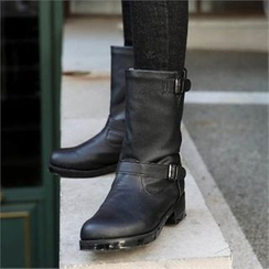 CHICFOX - Faux-Fur Lined Mid-Calf Boots
