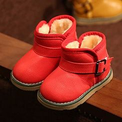 Luco - Kids Faux Leather Fleece-lined Ankle Boots