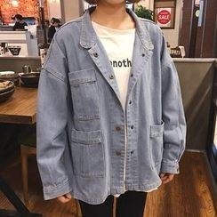 Katie Bloom - Pocketed Denim Jacket
