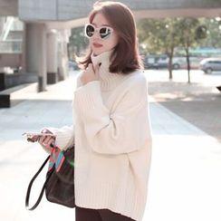 Ashlee - High Neck Long Sweater