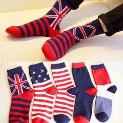Shopin - Set of 5: Patterned Socks