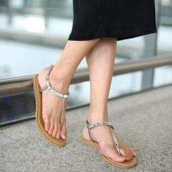 SO Central - Beaded Thong Sandals