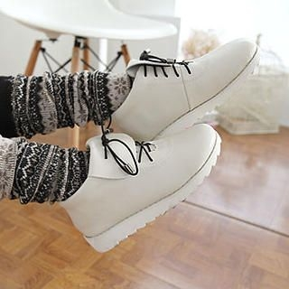 Lane172 - Genuine-Leather Lace-Up Ankle Boots