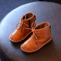 綠豆蛙童鞋 - 童裝繫帶短靴