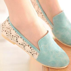 Nouvelle Footwear - Crochet-Panel Slip-Ons