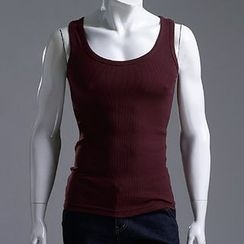 Seoul Homme - Racer-Back Ribbed Tank Top