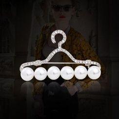 KINNO - Faux Pearl Hanger Brooch