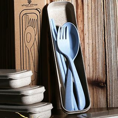 Cute Essentials - Cutlery Set: Spoon + Fork + Chopstick