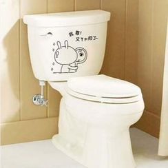 LESIGN - Rabbit Toilet Sticker