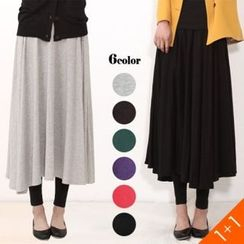 ANNINA - Set of 2: A-Line Maxi Skirt