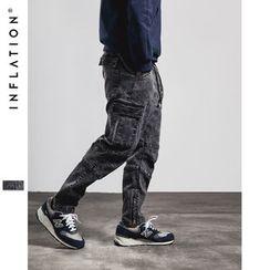 Newin - Drawstring Drop-Crotch Pants