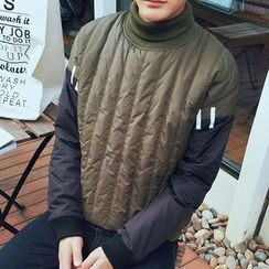 Bay Go Mall - Color Block Padded Sweatshirt