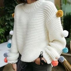 lilygirl - Ball Accent Sweater