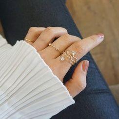 嘀咕家 - 三件套: 水鑽戒指