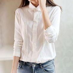 Tangi - Lace Trim Shirt