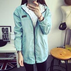 Tangi - Hooded Print  Trench Jacket