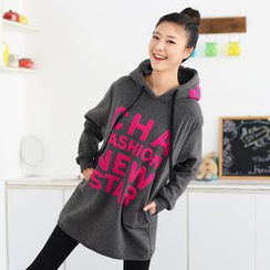 59 Seconds - Lettering Hooded Oversized Pullover