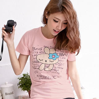 RingBear - Rabbit Print T-Shirt