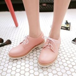 Pretty in Boots - Lace-Up Shoes